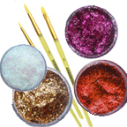 Brushes and Glitters