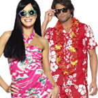 His and Hers Hawaiian Costumes
