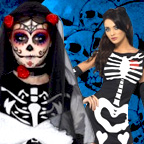 Skeleton Costumes for Ladies