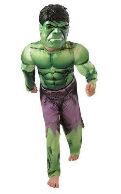 Childs Boys Hulk Avengers Black Wig Costume Accessory