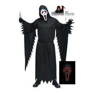 Child SCREAM Costume MASK Halloween Horror Fancy Dress Costume Demon TV Film