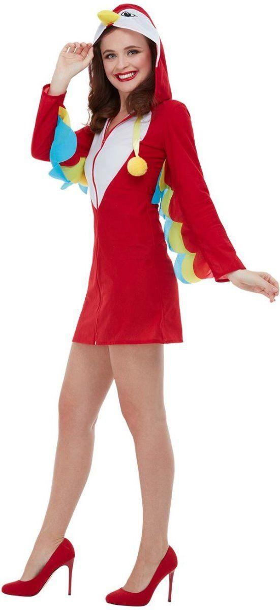 Ladies Tropical Bird Peacock Flamingo Hen Adult Festival Fancy Dress Costume
