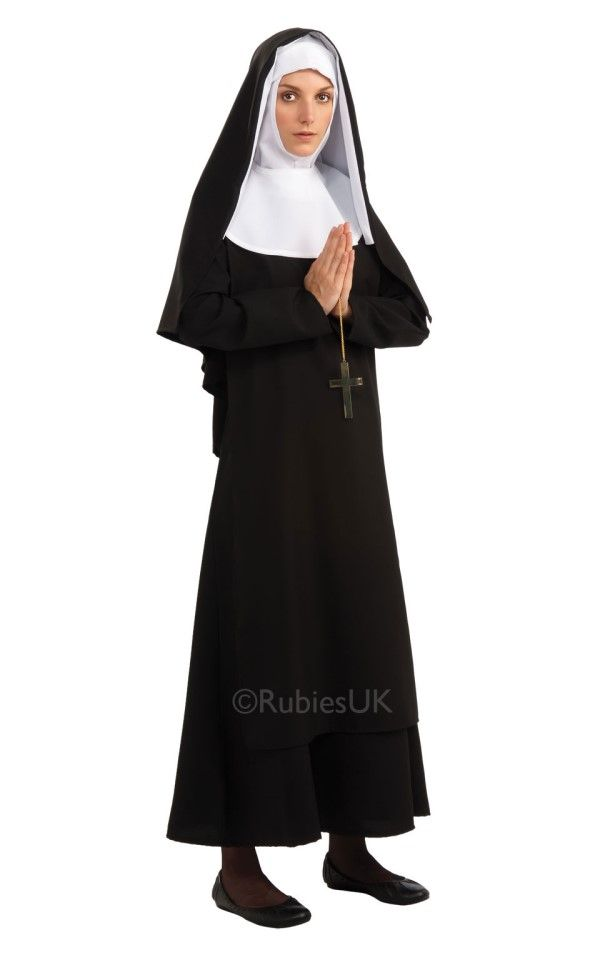 Ladies Naughty Nun Fancy Dress Costume Kit Hen Party Stag Do