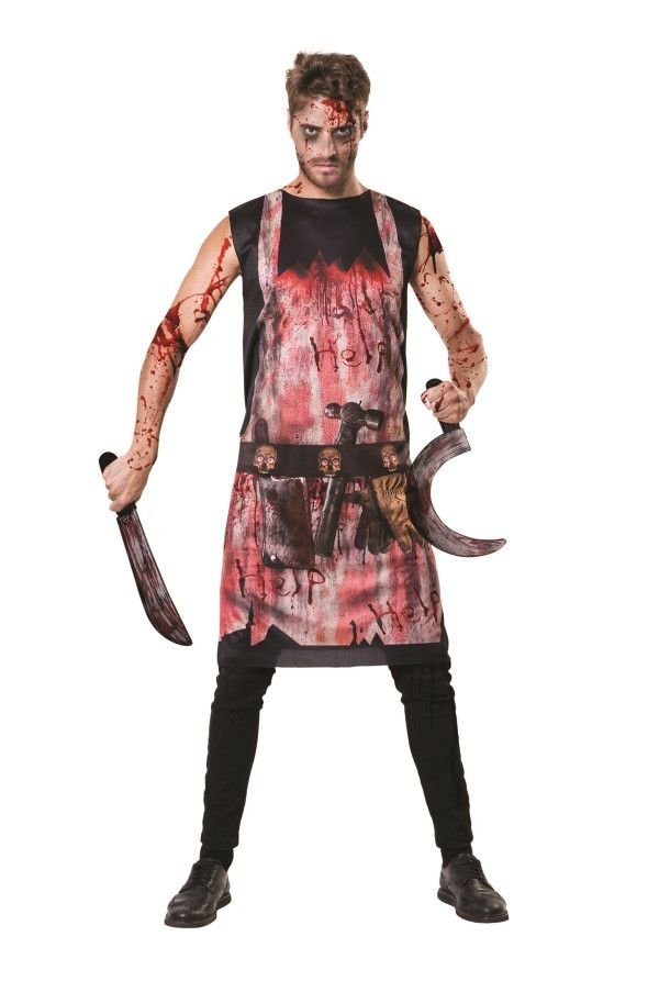Adult Halloween Bloody Chef Set Fancy Dress Horror Kit
