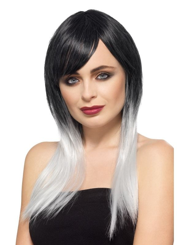 Ombre Wig Long Heat Resistant Styleable Layered Fancy Dress Grey Ombre Wig