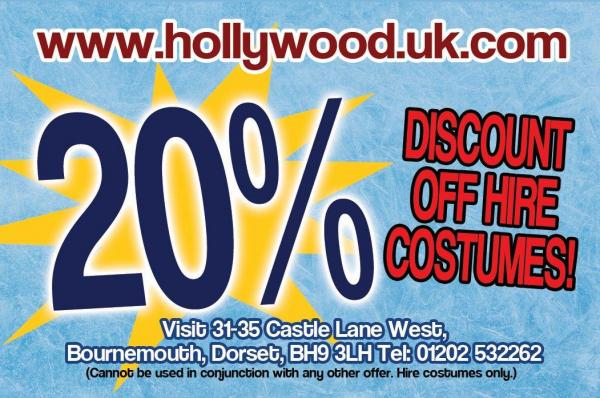 Hire at Hollywood Fancy Dress for New Year
