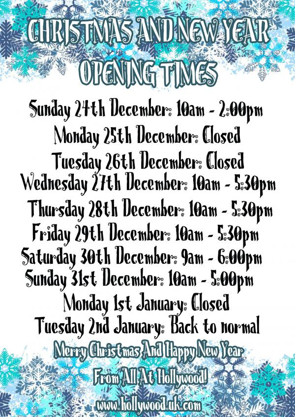 Christmas And New Year Opening Times 2017