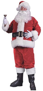 Deluxe Regency Plush Santa Suit