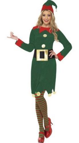 Ladies Elf Christmas Costume