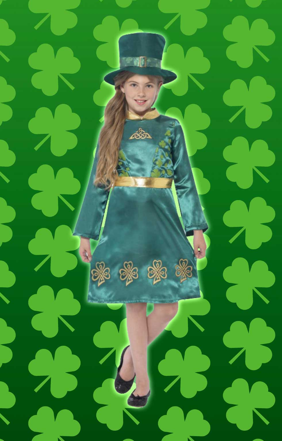 Leprechaun archives this lovely girls st patricks day dress is perfect to make your daughters feel part of the day solutioingenieria Choice Image