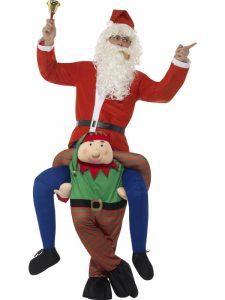 Christmas - elf piggyback
