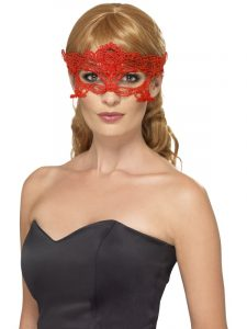 Comic Relief - Red Lace Eyemask