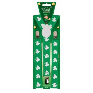 St Patrick's Day Braces by Hollywood Fancy Dress
