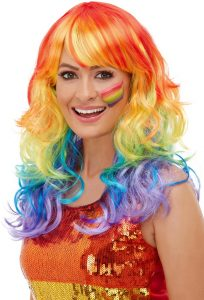 Rainbow Glam Wig - Bourne Free