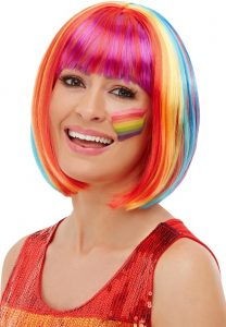 Rainbow Bob wig - Bourne Free