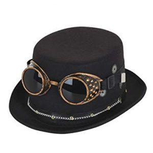 Steampunk Goggles and Hat - Steam Punk
