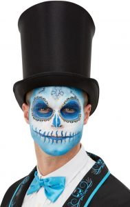 Blue Aqua Makeup | Day of the Dead
