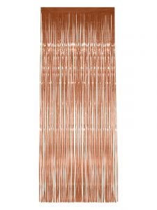 Rose Gold Shimmer Tinsel Curtain - New Years Eve Decorations