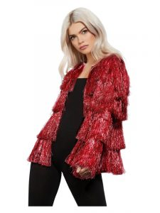 Red Festival Tinsel Jacket