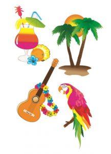 Hawaiian Party Decorations, lockdown fun.