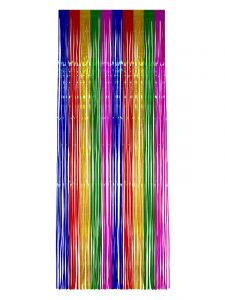 Rainbow Tinsel Curtain