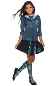 Slytherin Top, Skirt and sock.