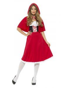 Ladies Long Red Riding hood costume.
