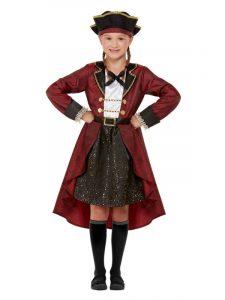 Girls Pirate Fancy Dress Costume