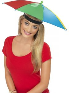 We are back umbrella hat ready for the beer gardens