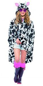 Cow Print Party Poncho
