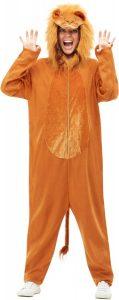 Lion costume.